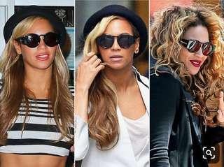 🚚 Karen walker Blue Moon Black Sunglasses Beyoncé