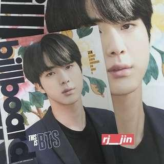 BTS JIN BILLBOARD MAGAZINE with Poster