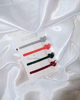 Hair clip set (heart )