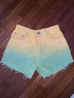 Ombre highwaist shorts
