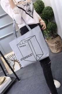 Zipped Tote Bag