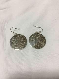 Tiffany notes inspired earrings