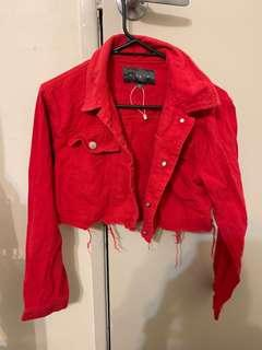 RED CROP JACKET