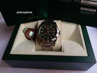勞力士Rolex 116400 GV milgauss M頭卡