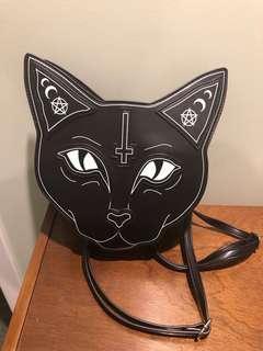Black Cat Gothic Backpack/shoulder bag