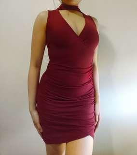 PTL Red Bodycon Dress
