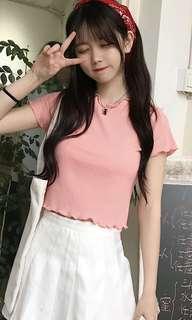 Brandnew Ribbed Pink Crop Top