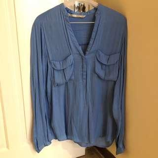 ZARA TRF Blue Shirt