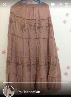#buy1get1 plus free ongkir. 1 stel rok bohemian dan blouse import