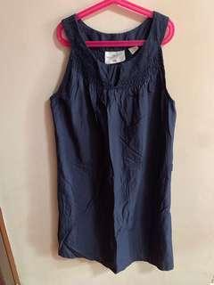 H&M navy blue halter dress