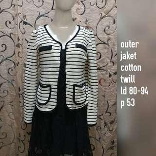 Jaket stripes black white