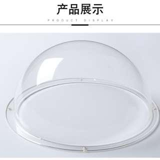 Acrylic Dome with flange, Transparent Plastic Hemisphere (can for CCTV etc) 亚克力半球-透明球形罩-半圆形