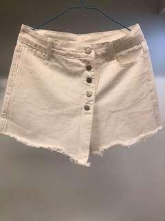 全新 白色流蘇裙褲 加大碼 XL