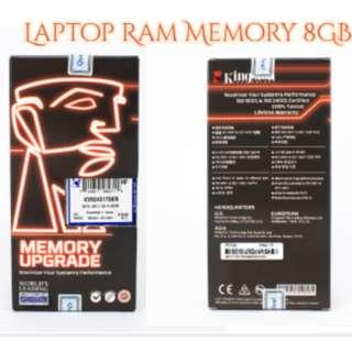 Kingston KVR24S17S8/8 8GB 1Rx8 1G x 64-Bit PC4-2400 CL17 260-Pin SODIMM (Laptop Ram)