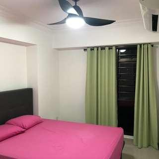 High floor, non-corridor facing, newly renovated & furniture common room for rent