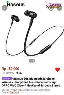 Earphone Bluetooth Baseus