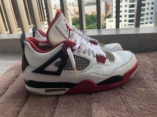 🚚 Air Jordan 4 fire red