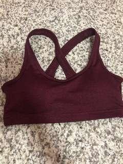 🚚 Cotton On wine red sports bra size XS #endgameyourexcess