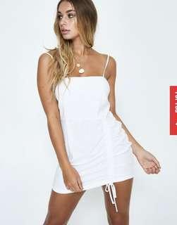 Alice In The Eve White Ruched Dress