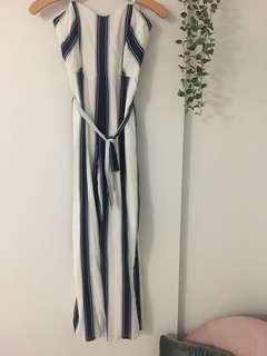 Bardot Stripe Jumpsuit size 8 $129.99 NWT