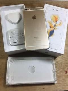 Iphone 6s plus 128gb gold fullset ex inter singapur