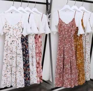 T Shirt Floral Dress Summer Dress