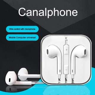 E1 Stereo Earphone in line control with mic Headset