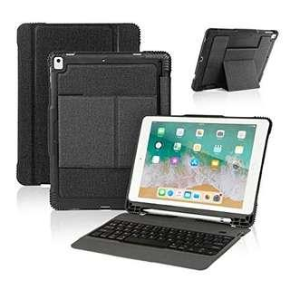NEW IPAD 9.7 KEYBOARD CASE WITH PENCIL HOLDER