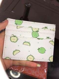 Card Holder Motif 6 Slot + Money Slot Green Apples [NET] #CardHolder #CardHolderMotif