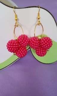 Raspberry earrings💕