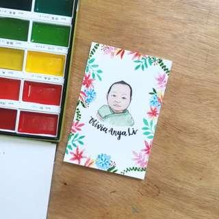 Baby Portrait | Newborn, Celebration gift