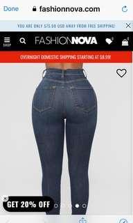 Fashion Nova Daredevil High Rise Skinny Jeans