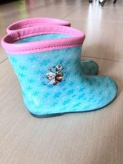 Disney Frozen Rainboot 迪士尼魔雪奇緣Elsa Anna水鞋 (加送Elsa 雨傘)