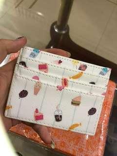 Card Holder Motif 6 Slot + Money Slot Stripe Dessert [NET] #CardHolder #CardHolderMotif