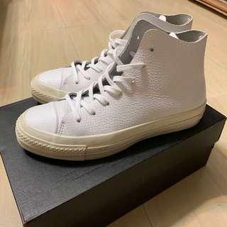 🚚 Converse prime 頂級系列 小白鞋 荔枝皮高筒 純白奶油底 zoom鞋墊 (154837C)