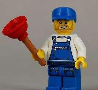 全新未砌 Lego 71000 Minifigures Series 9 No.16 Plumber (已開袋確認)