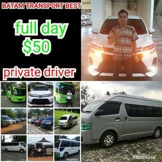 Batam transport private driver