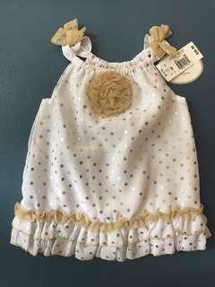 100% New 女嬰吊帶裙
