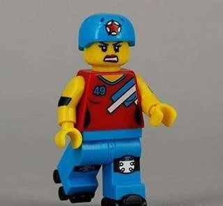 全新未砌 Lego 71000 Minifigures Series 9 No.8 Roller Derby Girl (已開袋確認)