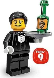 全新未砌 Lego 71000 Minifigures Series 9 No.1 Waiter (已開袋確認)