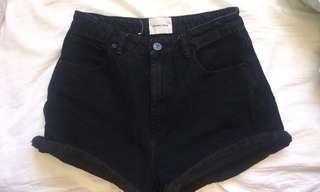 ABRAND black shorts size 8