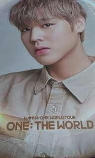 Park Ji Hoon Unofficial One the World Postet