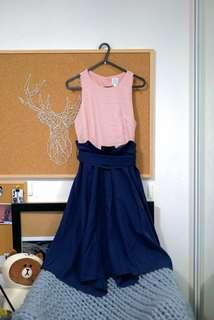 Royal Pink and Blue Dress