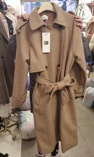 🚚 質感綁帶大衣外套