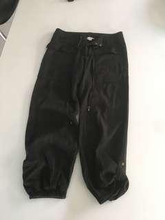 Black Cargo Style Pants