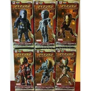 CRANEKING WCF Iron Man Vol.1 全新 盒蛋 1套共6款 不散賣