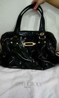 Authentic Jimmy Choo Patent Leather hobo bag