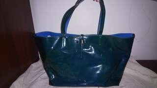 Authentic Salvatore Ferragamo patent leather bag