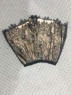 Keepsake black lace shorts