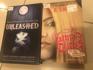 Unleashed by Nancy Holder & Debbie Viguié AND The Vampire Diaries by L.J.Smith
